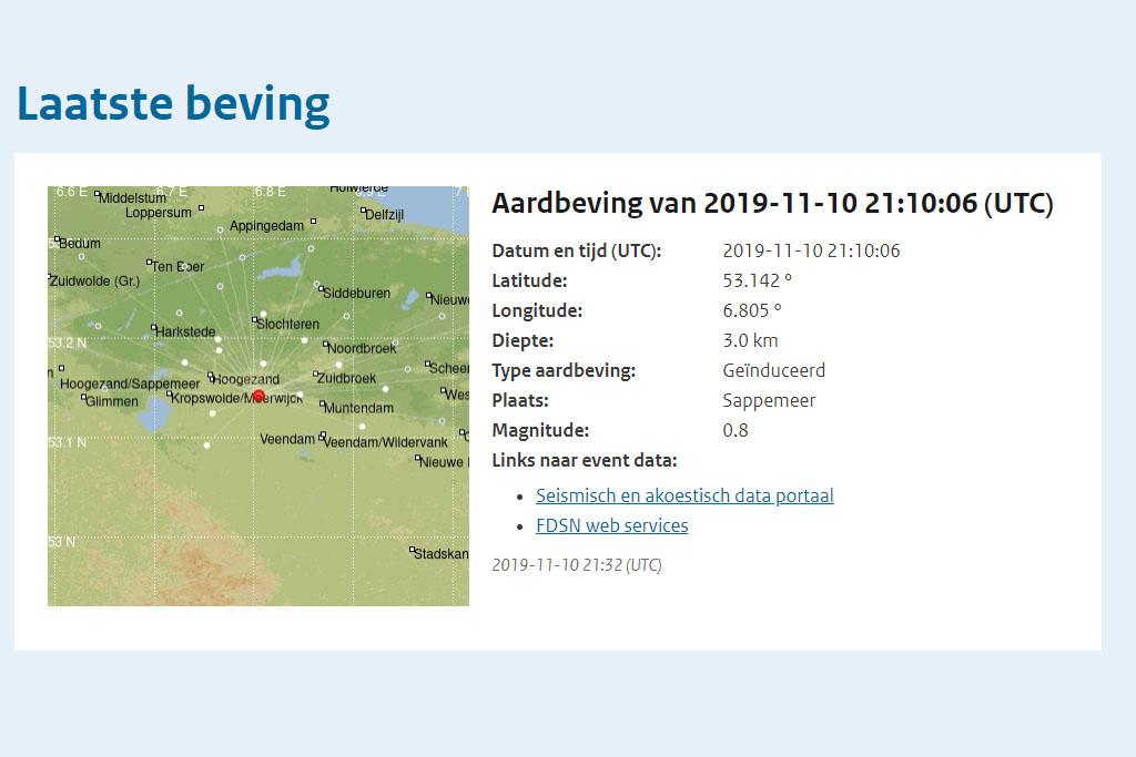 Lichte aardbeving van 0.8 bij Sappemeer - 112hoogezand.nl